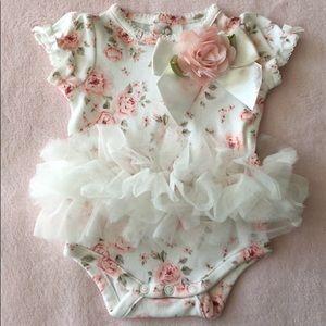 Other - Baby Girls Floral-Print Tutu Bodysuit